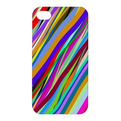 Multi Color Tangled Ribbons Background Wallpaper Apple Iphone 4/4s Hardshell Case
