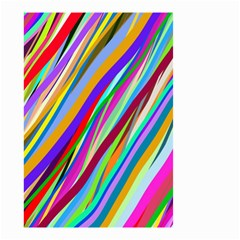 Multi Color Tangled Ribbons Background Wallpaper Small Garden Flag (two Sides)