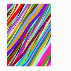 Multi Color Tangled Ribbons Background Wallpaper Large Garden Flag (two Sides)