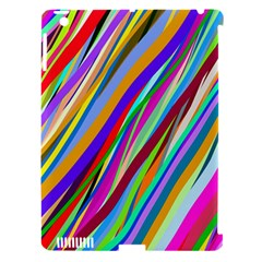 Multi Color Tangled Ribbons Background Wallpaper Apple Ipad 3/4 Hardshell Case (compatible With Smart Cover)