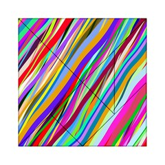 Multi Color Tangled Ribbons Background Wallpaper Acrylic Tangram Puzzle (6  X 6 )