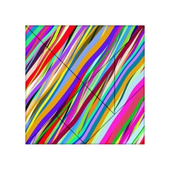 Multi Color Tangled Ribbons Background Wallpaper Acrylic Tangram Puzzle (4  x 4 )