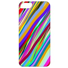 Multi Color Tangled Ribbons Background Wallpaper Apple Iphone 5 Classic Hardshell Case