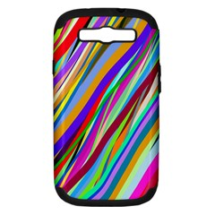 Multi Color Tangled Ribbons Background Wallpaper Samsung Galaxy S Iii Hardshell Case (pc+silicone)