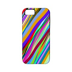 Multi Color Tangled Ribbons Background Wallpaper Apple Iphone 5 Classic Hardshell Case (pc+silicone)