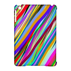 Multi Color Tangled Ribbons Background Wallpaper Apple Ipad Mini Hardshell Case (compatible With Smart Cover)