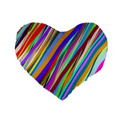Multi Color Tangled Ribbons Background Wallpaper Standard 16  Premium Heart Shape Cushions