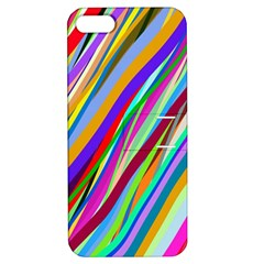 Multi Color Tangled Ribbons Background Wallpaper Apple Iphone 5 Hardshell Case With Stand