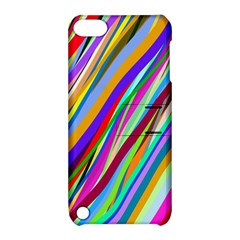 Multi Color Tangled Ribbons Background Wallpaper Apple Ipod Touch 5 Hardshell Case With Stand