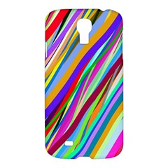 Multi Color Tangled Ribbons Background Wallpaper Samsung Galaxy S4 I9500/I9505 Hardshell Case