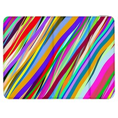 Multi Color Tangled Ribbons Background Wallpaper Samsung Galaxy Tab 7  P1000 Flip Case