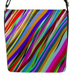 Multi Color Tangled Ribbons Background Wallpaper Flap Messenger Bag (s)