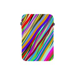 Multi Color Tangled Ribbons Background Wallpaper Apple Ipad Mini Protective Soft Cases