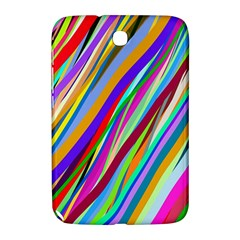 Multi Color Tangled Ribbons Background Wallpaper Samsung Galaxy Note 8.0 N5100 Hardshell Case