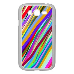 Multi Color Tangled Ribbons Background Wallpaper Samsung Galaxy Grand Duos I9082 Case (white)