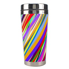 Multi Color Tangled Ribbons Background Wallpaper Stainless Steel Travel Tumblers