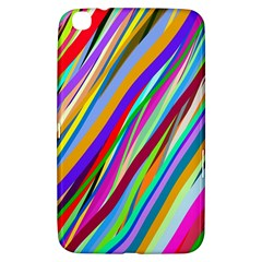 Multi Color Tangled Ribbons Background Wallpaper Samsung Galaxy Tab 3 (8 ) T3100 Hardshell Case