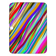 Multi Color Tangled Ribbons Background Wallpaper Samsung Galaxy Tab 3 (10 1 ) P5200 Hardshell Case