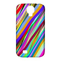 Multi Color Tangled Ribbons Background Wallpaper Samsung Galaxy S4 Classic Hardshell Case (pc+silicone)