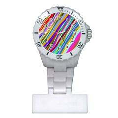 Multi Color Tangled Ribbons Background Wallpaper Plastic Nurses Watch
