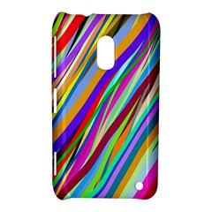 Multi Color Tangled Ribbons Background Wallpaper Nokia Lumia 620