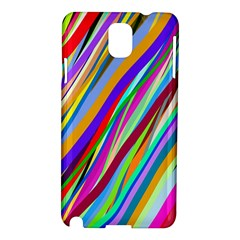 Multi Color Tangled Ribbons Background Wallpaper Samsung Galaxy Note 3 N9005 Hardshell Case