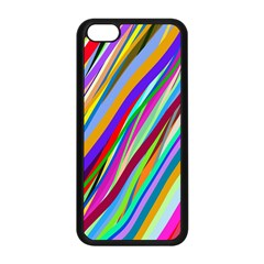 Multi Color Tangled Ribbons Background Wallpaper Apple Iphone 5c Seamless Case (black)