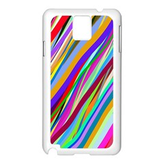 Multi Color Tangled Ribbons Background Wallpaper Samsung Galaxy Note 3 N9005 Case (white)