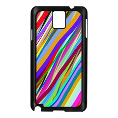 Multi Color Tangled Ribbons Background Wallpaper Samsung Galaxy Note 3 N9005 Case (Black)