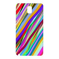 Multi Color Tangled Ribbons Background Wallpaper Samsung Galaxy Note 3 N9005 Hardshell Back Case
