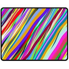 Multi Color Tangled Ribbons Background Wallpaper Double Sided Fleece Blanket (Medium)