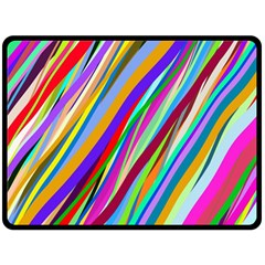 Multi Color Tangled Ribbons Background Wallpaper Double Sided Fleece Blanket (Large)