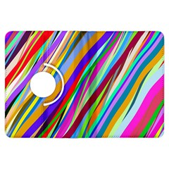 Multi Color Tangled Ribbons Background Wallpaper Kindle Fire HDX Flip 360 Case