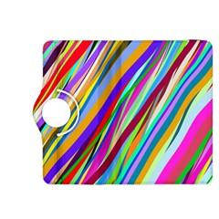 Multi Color Tangled Ribbons Background Wallpaper Kindle Fire Hdx 8 9  Flip 360 Case