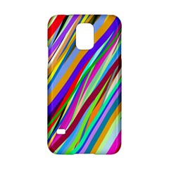 Multi Color Tangled Ribbons Background Wallpaper Samsung Galaxy S5 Hardshell Case
