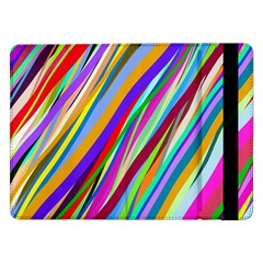 Multi Color Tangled Ribbons Background Wallpaper Samsung Galaxy Tab Pro 12.2  Flip Case