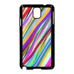 Multi Color Tangled Ribbons Background Wallpaper Samsung Galaxy Note 3 Neo Hardshell Case (black)