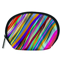 Multi Color Tangled Ribbons Background Wallpaper Accessory Pouches (Medium)