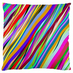 Multi Color Tangled Ribbons Background Wallpaper Large Flano Cushion Case (one Side)