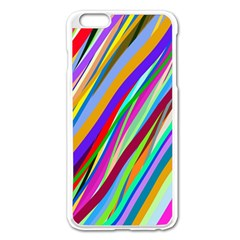 Multi Color Tangled Ribbons Background Wallpaper Apple Iphone 6 Plus/6s Plus Enamel White Case