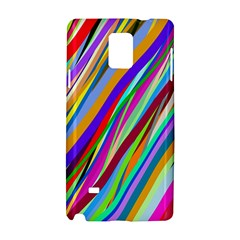 Multi Color Tangled Ribbons Background Wallpaper Samsung Galaxy Note 4 Hardshell Case