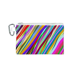 Multi Color Tangled Ribbons Background Wallpaper Canvas Cosmetic Bag (s)