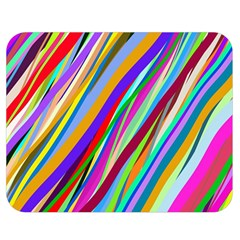Multi Color Tangled Ribbons Background Wallpaper Double Sided Flano Blanket (medium)