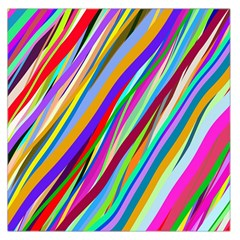 Multi Color Tangled Ribbons Background Wallpaper Large Satin Scarf (Square)