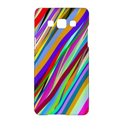 Multi Color Tangled Ribbons Background Wallpaper Samsung Galaxy A5 Hardshell Case