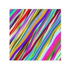 Multi Color Tangled Ribbons Background Wallpaper Small Satin Scarf (square)