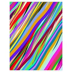 Multi Color Tangled Ribbons Background Wallpaper Drawstring Bag (large)