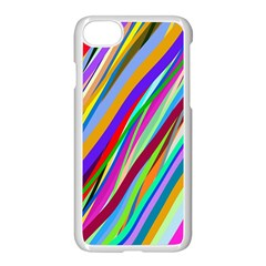 Multi Color Tangled Ribbons Background Wallpaper Apple Iphone 7 Seamless Case (white)