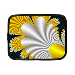 Fractal Gold Palm Tree On Black Background Netbook Case (small)
