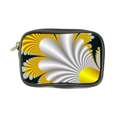 Fractal Gold Palm Tree On Black Background Coin Purse